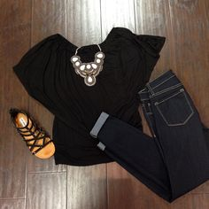 """Add one of our gorgeous Pink Pewter statement necklaces to a black top for a classy look! #posh #getinmycloset #datenight newarrivals #black #necklace…"""