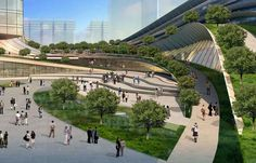 Proposed Express Rail Link Kowloon Terminus, Hong Kong by Aedas