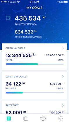 My Goals - finance app