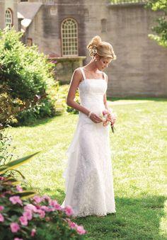 Lace garden wedding dress