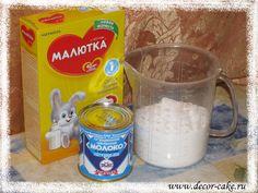 Молочная мастика Gum Paste, Fondant, Food To Make, Oatmeal, Breakfast, Sweet, Desserts, Decor, Gourmet