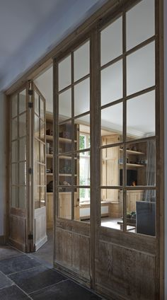 Looking for new trending french door ideas? Find 100 pictures of the very best french door ideas from top designers. Interior Barn Doors, Interior And Exterior, Wall Exterior, Interior Design, Interior French Doors, Antique French Doors, Glass French Doors, French Windows, Interior Windows