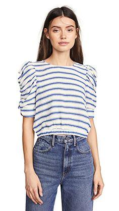 094893c7d3edb8 Striped Pouf Sleeve Top. SHOPBOP. Moon River Striped Pouf Sleeve Top. Sydney  Le Fever · Basics   Novelty