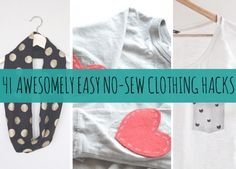 '41 Awesomely Easy No-Sew DIY Clothing Hacks...!' (via BuzzFeed)