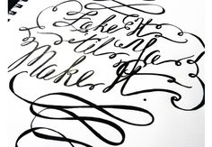 Gel Point Pen Calligraphy | The Postman's Knock by Lindsey Bugbee