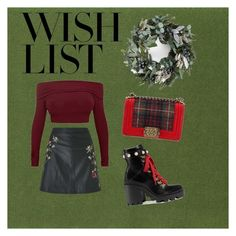 """#PolyPresents: Wish List"" by deashintasr on Polyvore featuring Miss Selfridge, Gucci, Chanel, contestentry and polyPresents"