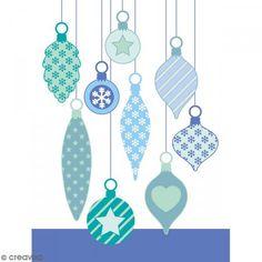 Sellos transparentes Artemio - Bolas de Navidad - 9 pcs - Fotografía n°2