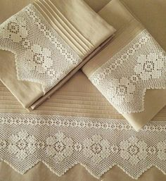 Pike Lace Samples - Diy and craft Filet Crochet, Crochet Stitches, Crochet Snowflake Pattern, Sewing Patterns, Crochet Patterns, Crochet Home, Crochet Designs, Home Textile, Handicraft