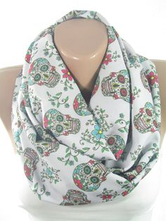 Ladies Scarf Sheer Grey Voile Lipstick Handbag Accessories Motif Extra Large XL