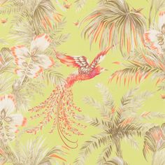 Bird of Paradise fabric and wallpaper MatthewWilliamson for Osborne and Little Samana