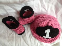 Baby Girl Fire Hat and Rain Booties. $39.00, via Etsy.  I need this for Zoe!!!!