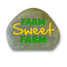 Garden Stone (with Cut Bottom) - Farm Sweet Farm -  Green & Yellow
