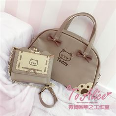 To Alice / Teddy Bear travel bag and purse