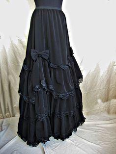 Victorian goth/steampunk tiered skirt