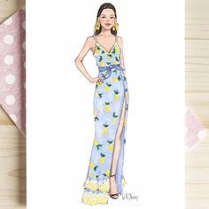 ☆Let the weekend theraphy begin☆ ⛵🌞🍋 Style of Brush by Gizem Kazanci… - Kleidung Ideen 2019 Dress Design Drawing, Dress Design Sketches, Dress Drawing, Fashion Design Drawings, Drawing Sketches, Fashion Illustration Sketches, Fashion Sketchbook, Fashion Sketches, Beautiful Dress Designs