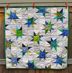 Amy's (Drury Girl) gorgeous wonky star quilt that she designed.