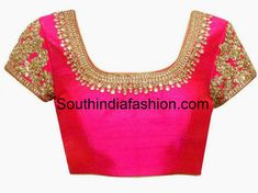 pink_blouse_for_silk_sarees.jpg (890×667)