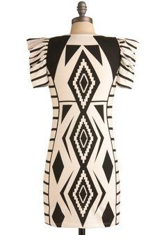 Gregarious Geometry Dress Perfect for Indian Market in Santa Fe.