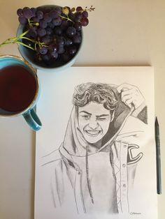 Tumblr Drawings, Pencil Art Drawings, Realistic Drawings, Art Drawings Sketches, Easy Drawings, Human Sketch, Boy Drawing, Dibujos Cute, Celebrity Drawings