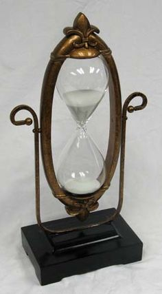 60 Minute Hourglass - Glass Sand Timer with Aged Victorian Frame: