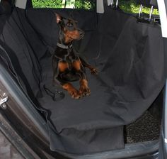 LotFancy Pet Seat Cover to Protect Car Seats from Pet Fur, Mud, Etc. Also Includes 2 Car Door Covers and Seatbelt Leash * Visit the image link more details.