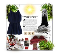 """""""Romwe"""" by erina-salkic ❤ liked on Polyvore featuring Olympia Le-Tan, Hogan, Casetify and Rock 'N Rose"""