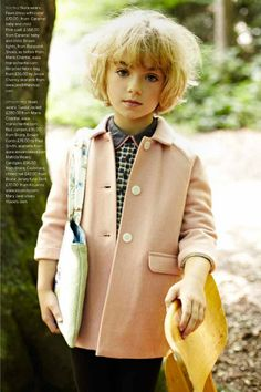 Awesome #backtoschool look...#smartgirlsandmodels approved...love the pink jacket and hairdo