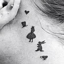 small alice in wonderland tattoos - Google Search