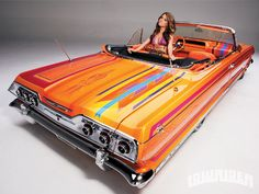 1963 Chevrolet Impala Convertible Model In Back Car Paint Jobs, Custom Paint Jobs, Custom Cars, Auto Paint, Chevrolet Impala, 64 Impala, Lowrider, Sexy Cars, Hot Cars
