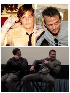 Sean Patrick Flanery and Norman Reedus