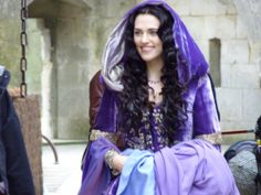 I also want a purple velvet cape like this one.