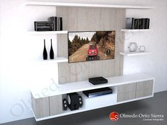 Diseño de Mueble Para TV Moderno y Personalizado Tv Unit Furniture, Home Furniture, Kitchen Furniture, Tv Unit Decor, Rack Tv, Home Entertainment Centers, Living Room Tv, Cabinet Design, Modern Decor