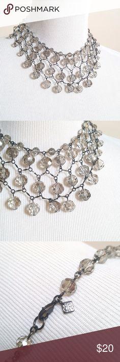 Banana Republic Webbed Beads Choker Necklace Banana Republic Webbed Beads Choker Necklace Crystal Beaded Fall Fashion   EUC Banana Republic Jewelry Necklaces