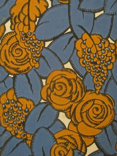 I like this colour palette too. However, I feel it is all too muted. Pattern from a Pair of French Art Deco Paper Screens Art Deco Artwork, Artwork Design, Design Art, Zentangle, Art Nouveau, Motifs Textiles, Deco Restaurant, Motif Art Deco, Design Poster