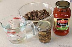CrockPot Spaghetti - Life Should Cost Less Crockpot Spagetti, Spaghetti Recipes, Gourmet Recipes, Crockpot Recipes, Healthy Recipes, Cooker Recipes, Instant Pot Pasta Recipe, No Bake Snacks
