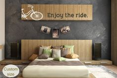 Enjoy the Ride Wall Decor - Mod Beach Cruiser Adventure -  Bike decal -Vinyl wall art decals by 3rdaveshore