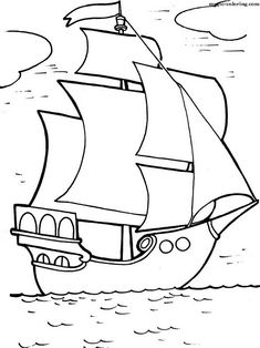 Magic Coloring - Games And Coloring Pages For Kids and Adults. Space Coloring Pages, Coloring Sheets For Kids, Animal Coloring Pages, Coloring Books, Cartoon Drawing For Kids, Easy Drawings For Kids, Art For Kids, Cartoon Drawings, Boat Drawing