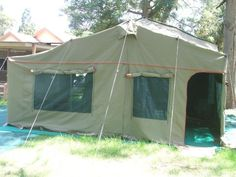 2010 Howling Moon Trailer Tent Used Only Twice And In New Condition Complete With Awning All Side Panels