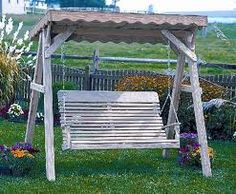 a-frame pergola with swing - Google Search