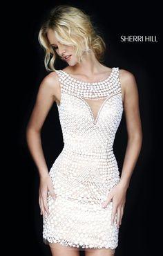 Sherri Hill  ~ Fall 2015~ All Pearl Everything Dress