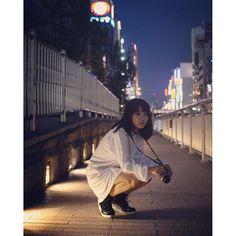 Instagram【yuuki_kawanishi】さんの写真をピンしています。 《ennui . . . . . .  #photo#photographer #photooftheday #portrait #portraits #ポートレート#girl #大阪#night#写真 #right#夜景 #nikon#blue #写真撮ってる人と繋がりたい #portraits_ig》