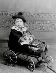 Boy with cat,1890