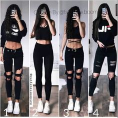 [New] The 10 Best Outfit Ideas Today (with Pictures) - Edgy Outfits, Cute Casual Outfits, Summer Outfits, Girl Outfits, Fashion Outfits, Fashion Clothes, Fashion Ideas, Look Fashion, Teen Fashion