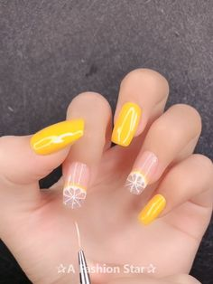 Nail design - 20 Best Nail designs For 2019 Would you ever try this amazing nail art? einfach diy Sommernägel Beach Waves Nail art designs in Dubai UAE Halloween Acrylic Nails, Acrylic Nails Coffin Short, Simple Acrylic Nails, Summer Acrylic Nails, Best Acrylic Nails, Coffin Nails, Spring Nails, Summer Nails, Fruit Nail Designs