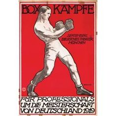 vintage boxing posters 1920s - Google Search