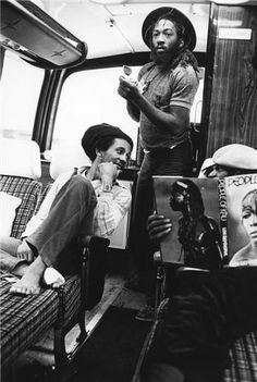 Bob Marley and the Wailers on the bus by Kate Simon #HouseofMarley #LiveMarley #BobMarley http://www.thehouseofmarley.com/