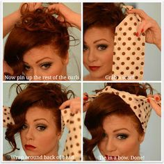"The Color ""Red Hot"": Pinup Girl Updo with Scarf"