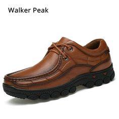 1ff1e80c 62.32 30% de DESCUENTO|Los hombres zapatos de trabajo británico de 100%  casuales de negocios de cuero genuino zapatos de charol negro zapatos para  caminar ...