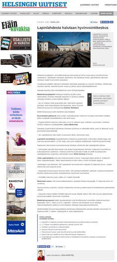 Lapinlahden Lähde on mielenterveys- ja kulttuuritoimijoiden aloite, jossa Lapinlahden entisestä sairaalasta haluttaisiin tehdä kaikille kaupunkilaisille avoin hyvän mielen lähde. www.lapinlahdenlahde.fi Juttu Helsingin Uutisissa 10.10.2014