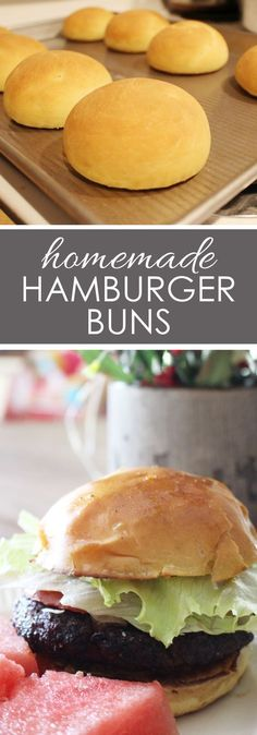 HOMEMADE HAMBURGER BUNS Ditching processed bread products has never been easier with this homemade einkorn hamburger bun recipe! With only 15 minutes of hands on time, this recipe is easy and delicious! Homemade Hamburger Buns, Hamburger Bun Recipe, Homemade Hamburgers, Easy Recipes With Hamburger, Healthy Homemade Bread, Homemade Breads, Flour Recipes, Bread Recipes, Real Food Recipes